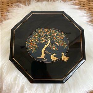 Other - Beautiful vintage black acrylic jewelry music box